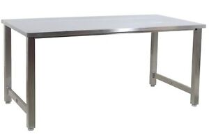 Benchpro 304 Stainless Steel 24 d X 60 w Hospital Medical Cleanroom Lab Table
