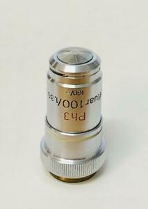 Zeiss Microscope Ph3 Objective Neofluar 100x Phase Contrast 160mm