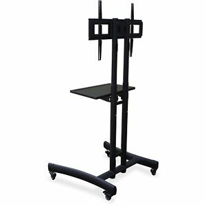 Lorell Flat Panel Tv Cart 29 1 2 x28 x64 Black 99755