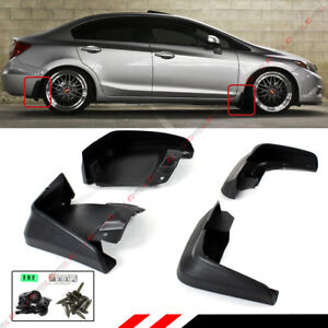 For 2012 15 9th Gen Honda Civic 4dr Sedan Mud Flaps Splash Guard Set Front Rear