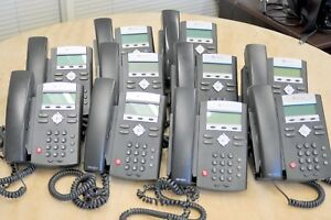 Lot Of 10 Polycom Sound Point Ip 335 Poe Phones Used Great Cond