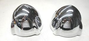 1951 51 Ford Car Center Grill Bullet Pair Chrome New