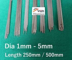 Titanium 6al 4v Wire Dia 1mm 5mm Grade 5 Round Bar Ti Straight Welding Rod