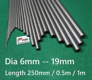 Titanium 6al 4v Dia 6mm 19mm Round Bar Grade 5 Alloy Rod Ti Gr 5 Metal