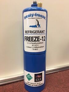 Freeze 12 R 12 R12 Replacement Non flammable No Cfc s 28 Oz Can