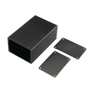 10x Aluminum Box Enclosure Case Project Electronic Black Diy 100 66 43mm l w h
