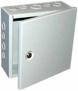 Steel Nema 1 Sheet Metal Box Electrical Enclosure Project Hinged Cover Gray
