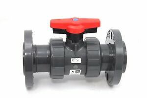 Spears 1823v 020 Pvc Schedule 80 2 inch Flange Industrial Vented Ball Valve