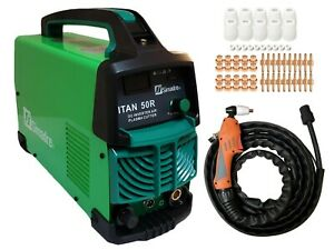 Plasma Cutter 60 Cons Simadre 50a 50r 110 220v 1 2 Cut Power Torch New