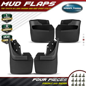 4x Splash Guards Mud Flaps Mudflaps For Toyota Land Cruiser 80 Series 1990 1997