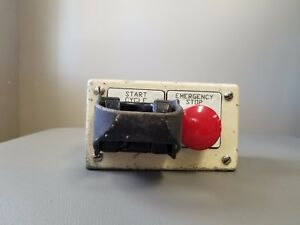 Hoffman Control Panel Enclosure With Emergency Stop Button Banner Sensor