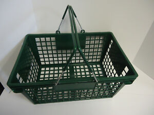 Lot Of 12 Large Jumbo Convenience Store Grocery Shopping Green Basket