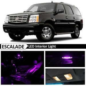 16x Bulbs Purple Interior Led Lights Package For 2002 2006 Cadillac Escalade Suv