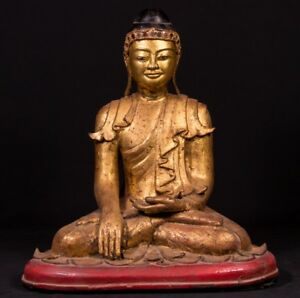 18th Century Antique Mon Buddha Statue From Burma Antique Buddha Statues
