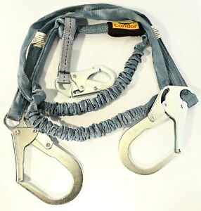 New 6 Tubular Shock Absorbing Lanyard In Blue 310 Lb Capacity Condor 19f384