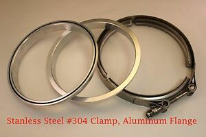 6 Clamp Aluminum M F Flanges V Band Turbo Intercooler Piping Kit W O Ring