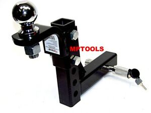 10 Drop Hitch Mount 2 Receiver Adjustable With 2 Hitch Ball And Pin Lock