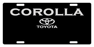 Toyota Corolla Custom License Plate Car Emblem