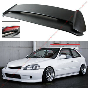 For 96 00 Honda Civic 3dr Hatchback Type r Style Roof Spoiler Wing W Led Light