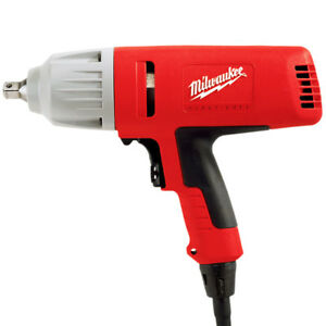 Milwaukee 9072 22 120v Ac 1 2 inch Vsr Impact Wrench With Case And 6 Sockets