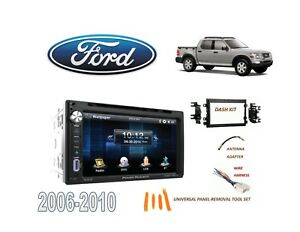 2006 2010 Ford Explorer Sport Trac Stereo Kit Bluetooth Usb Touchscreen Dvd