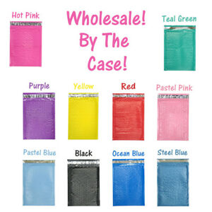 Wholesale Bulk 6x10 Colored Poly Bubble Mailers Mailing Envelopes Full Cases