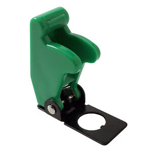 2 Green Flip Up Toggle Switch Guard Safety Cover Aircraft Style Uk Made