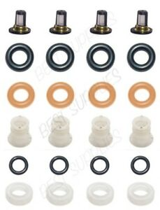 Fuel Injector Service Repair Kit Filters O Rings Caps For Accord Element Cr V