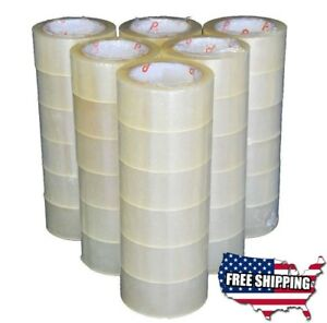 36 Rolls Carton Box Sealing Sticky Packing Package Clear Tape 2 Mil 2 x110 Yards