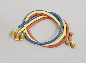 Yellow Jacket 22986 Plus Ii 72 Charging Hose ryb 3 pack W Sealright Fitting
