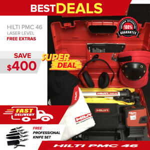 Hilti Pmc 46 Laser Level great Condition Free Knife Set Extras Fast Ship