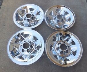 17 Set Of Four 4 Chrome Skins 2014 15 16 17 Silverado Tahoe Sierra Rims