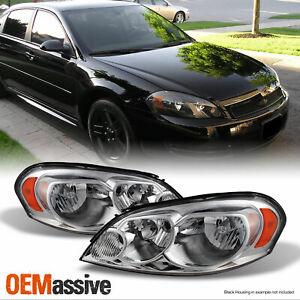 Fit 06 13 Chevy Impala Monte Carlo Headlights Light L R 2006 2013 Replacement