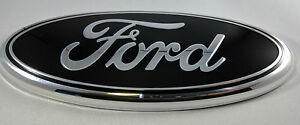 7 Black Ford 2004 2014 F150 Rear Grill Backup Tailgate Emblem Oval Decal Badge
