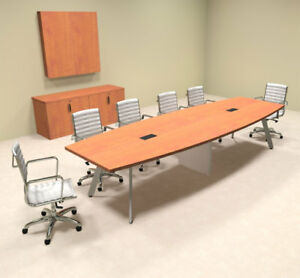 Modern Boat Shaped 12 Feet Conference Table of con cv16
