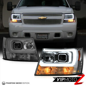 2007 2014 Chevy Suburban Tahoe Avalanche Tron Style Led Neon Tube Headlights