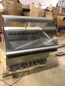 Federal Sq4cd 48 Refrigerated Display Case Curved Glass Cooler Deli Bakery Case