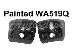 Painted Wa519q Front Bumper End Cap Set For 2008 2010 Chevy Silverado 1500 W Fog