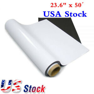 Usa Stock 23 6 X 50 Feet Flexible Magnet Roll With Self Adhesive Base Material