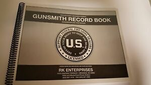 Gunsmith Record Book 1000 entry Atf Ffl Supply Business Seller Log Cover Process