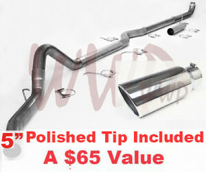 Turbo Back Exhaust Downpipe 5 Tip For 98 02 Dodge Ram Cummins 5 9l Diesel