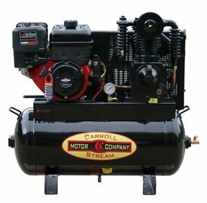 Gas Air Compressor Truck Mount 420cc Briggs Xr2100 Pro series Commercial E start