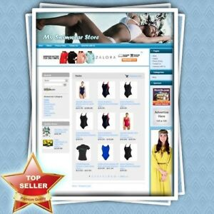 Swimwear Store Home based Online Business Website For Sale Unlimited Support