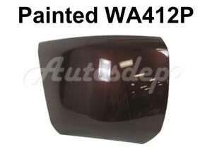 Painted Wa412p Front Bumper End Cap Rh For 2008 13 Chevy Silverado 1500 W o Hole
