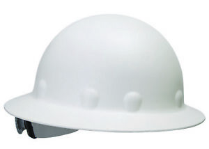 Fibre metal Roughneck Full Brim Hard Hat With 8 Point Ratchet Suspension White