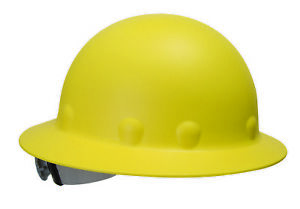 Fibre metal Roughneck Full Brim Hard Hat With 8 Point Ratchet Suspension Yellow