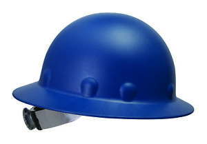 Fibre metal Roughneck Full Brim Hard Hat With 8 Point Ratchet Suspension Blue