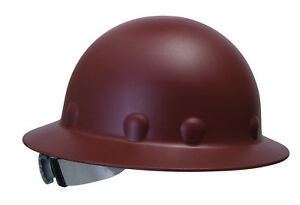 Fibre metal Roughneck Full Brim Hard Hat With 8 Point Ratchet Suspension Brown
