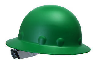 Fibre metal Roughneck Full Brim Hard Hat With 8 Point Ratchet Suspension Green