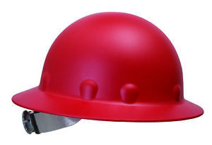 Fibre metal Roughneck Full Brim Hard Hat With 8 Point Ratchet Suspension Red